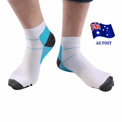 Compression Foot Sleeve Plantar Fasciitis Arthritis Socks Sore Achy Heel Pain S4