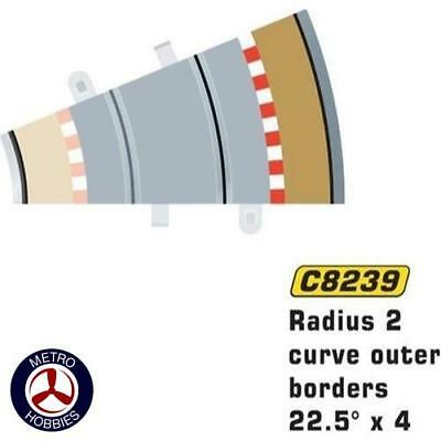 Scalextric Borders and Barriers 22.5 Degrees Outer (for SCA-C8234) SCA-C8239 Bra