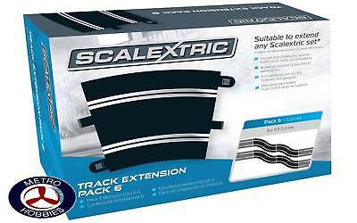 Scalextric Track Extension Pack 6 8 x R3 Curves SCA-C8555 Brand New
