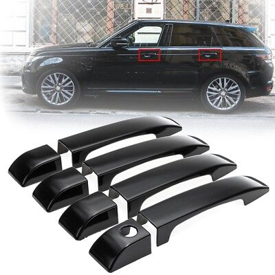 Gloss Black Door Handle Covers Trim ABS For Land Rover Range Vogue L322 02-12
