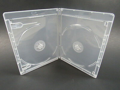 NEW! 5 Premium VIVA ELITE Double Disc Clear Blu-ray Cases w/Logo