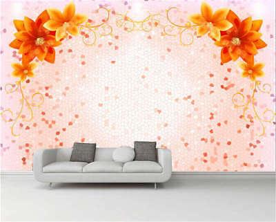 Ginger Yellow Flowers Full Wall Mural Photo Wallpaper Printing 3D Decor Kid Home