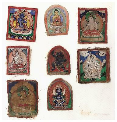 Set of Mongolian Tibetan Tsakli Thangka Zurag Drawing Painting  Mongolia #T05