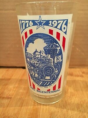 "Pepsi Cola Ohio Bicentennial Glass Fort Findlay  6"" Tall Collectible Home Decor"