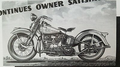 $14.00/pair ~ 1936&1937 Harley Davidson Dealer Flyers ~ ORIGINALS ~ US Ship Free