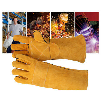 Soft Welding Cowhide Leather Gloves Heat Shield Cover Guard Hand Safe Protection