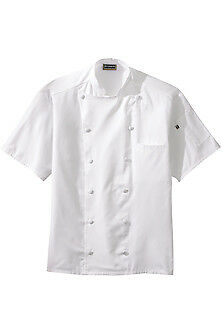 Edward Garments 12 Button Short Sleeve Chef Coat W/MESH - 3331 FREE SHIPPING!