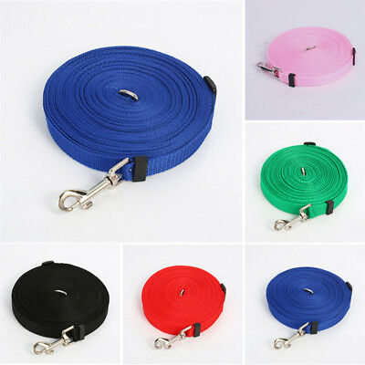 1.5/6/10/15M Pet Dog Lead Leash Long Strap Nylon Rope Outdoor Training Walking ❤