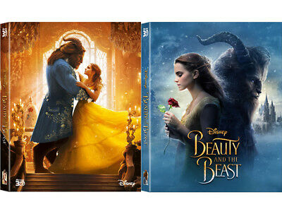 Beauty And The Beast (2017, Blu-ray) Full Slip Lenticular Steelbook / kimchiDVD