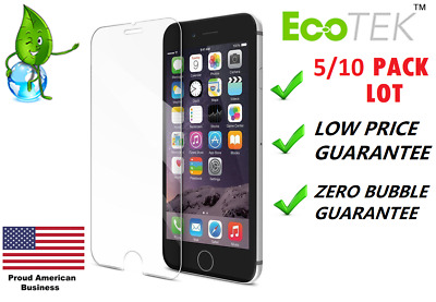 10x Lot Tempered Glass Screen Protector for Apple iPhone Xs MAX 5 8 6 7 Plus XR