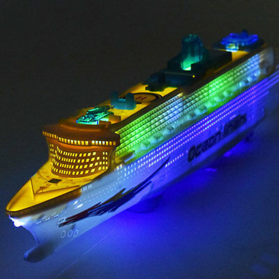 50cm Ocean Liner Cruise Ship Boat Simulation Flashing ship model Electric Toy