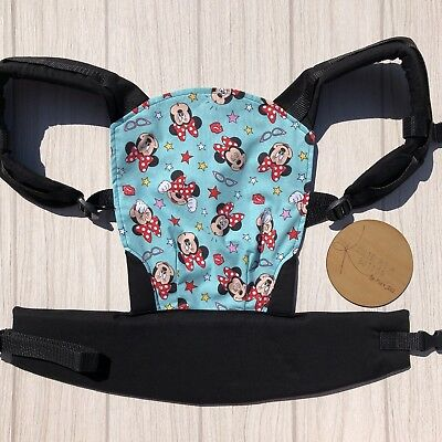 Doll Carrier- Mini Soft Structured Carrier - Aqua Mini Mouse
