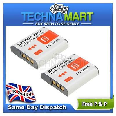 2X Rechargeable Battery NP-BG1 High Capacity For Sony Cybershot DSC-H50 DSC-H55
