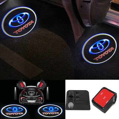 2x Wireless Ghost Shadow Projector Logo LED Door Step Light Courtesy For Peugeot