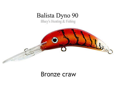 Balista Led Technology Dyno 90 Lure Bronze Craw Cod Barra Lure