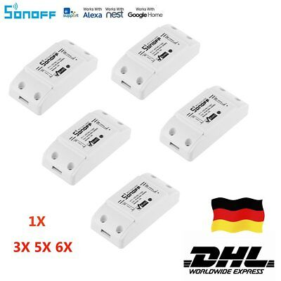 5x Sonoff WiFi Smart Switch Timer APP Fernbedienung Home Steckdose IOS/Android