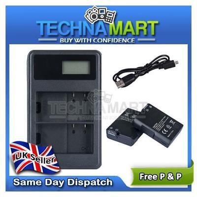 Dual USB Charger + 2X Battery LP-E6 For Canon EOS 5D Mark II Mark III UK