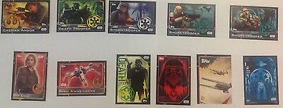 Rogue One Topps Star Wars Assorted Lot Of 11 Cards
