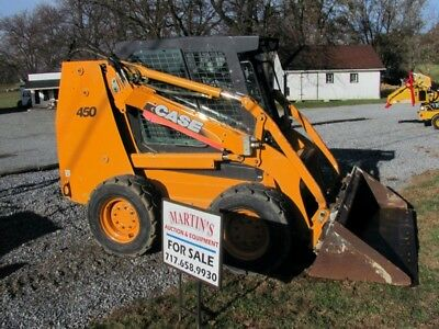 2007 CASE 450 Skid Steer Loader  Full Cab - No Door  2854 Hrs  Runs Great!