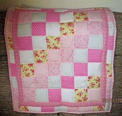 Handmade patchwork quilt or baby play mat