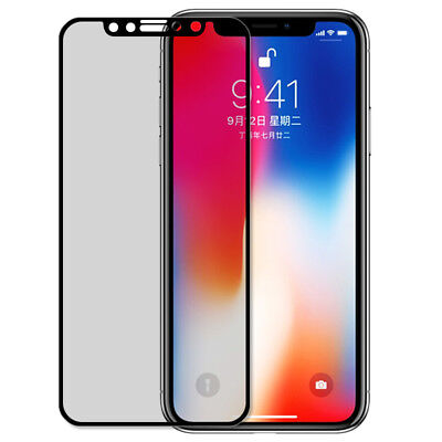 Privacy Anti-Spy Full Tempered Glass Screen Protector Shield for iPhone 8 Plus X