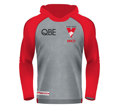 New Sydney Swans Warm Up Hoody 2018 Mens Supporter-Gear
