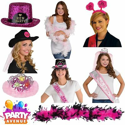 Hen Night Girls Night Out Fancy Dress Accessories Hats Sash Bachelorette Lot