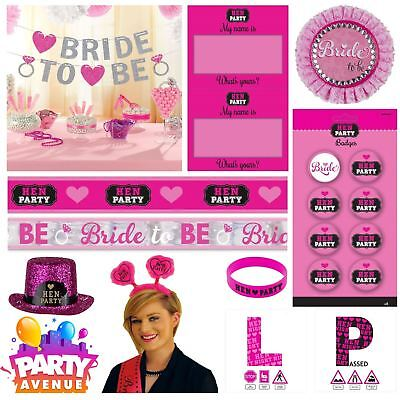 Hen Night Party Girls Night Out Wedding Games Wearables Decorations