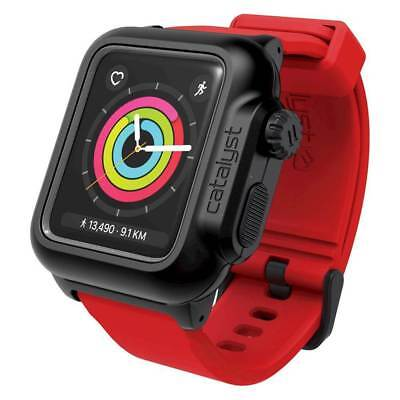 Catalyst - Case for Apple Watch42mm Series 2 and Series 3 - Black/Red