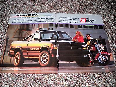 "1988 Dodge Dakota Sport Pickup 4x4 V6 Ad Advertisement 2 Page 11"" x 16"" Poster"