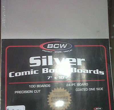 Silver Comic Back Boards