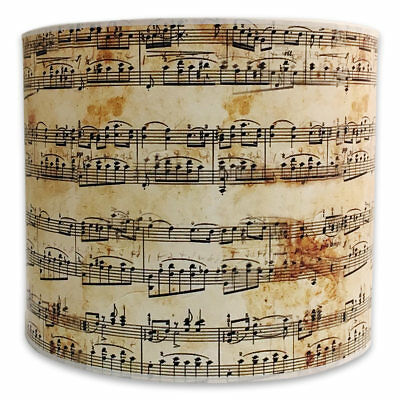Royal Designs Decorative Lamp Shade - Made in USA - Musical Notes Design