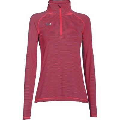 Under Armour Stripe Tech 1/4 Zip Top - Women's - Neo Pulse - L - 1276211-678