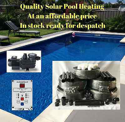 Solar Pool Heating/heater Kit 14M2 With Pump & Controller For Swimming Pool/spa