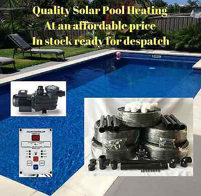 Solar Pool Heating/heater Kit 36M2 With Pump & Controller For Swimming Pool/spa