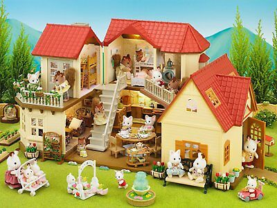 Sylvanian Families 2 Storey Home Beechwood Hall Doll House Toy for Girls Kids
