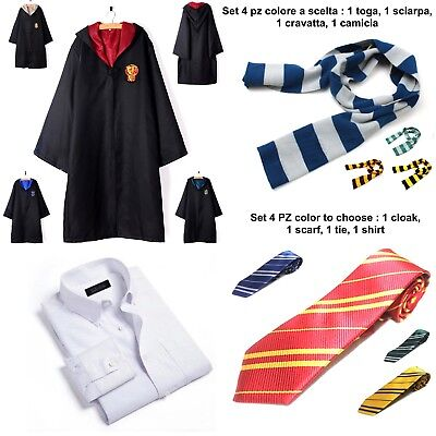 Simil Harry Potter Toga Vestito Bambino Carnevale Cosplay Cloak Costume HARRY01B