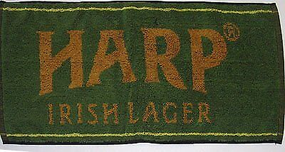 "Harp Lager Cotton Bar Towel 20"" x 9"" (pp), New"