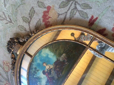 Beautiful and Unique Large Antique Ornate Mirror with Painting!