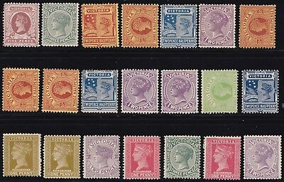 Stamps Australia - Victoria Mixed Lot - Mint Hinged. Various Condition.