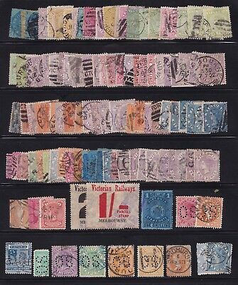 Stamps Australia - Victoria Mixed Lot 2 Pages - Used. Various Condition.