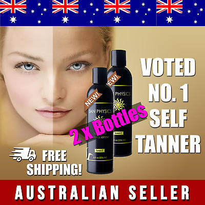 2 x Bottles Tan Physics Sunless Tanner BEST PRICE FOR AUSSIES Formula 12