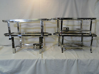 1 (one) Used Stainless Steel Chafing Dish - Chafer - Rack - Stand - Frame