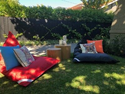 Outdoor Bean Bags (Black and Red)