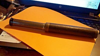 Spyglass With Leather look & brass end VINTAGE