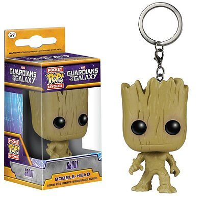Funko Pocket POP Marvel Guardians of the Galaxy Groot Key Chain New Official