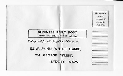 NSW ANIMAL WELFARE LEAGUE advertising cover
