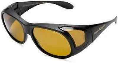 Eagle Eyes Fit-On Black Polarized Sunglasses With Case Nib Worldwide Shipping