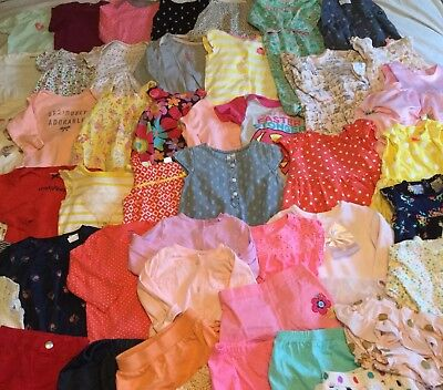Great Baby Girl Clothes Lot 6-9 Months 6-12 EUC 50 Pieces