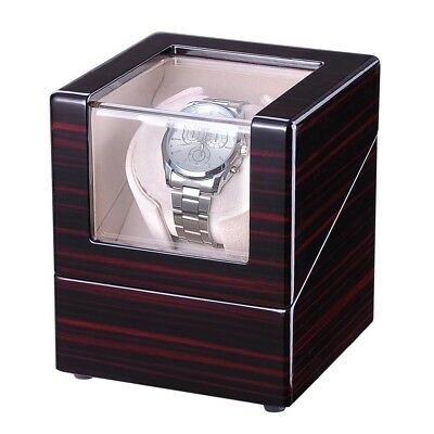 Automatic Watch Winder Display Box Japan Motor Polish Wooden Case Luxury Storage